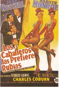 Gentlemen Prefer Blondes - 11 x 17 Movie Poster - Spanish Style C