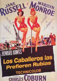 Gentlemen Prefer Blondes - 11 x 17 Movie Poster - Spanish Style D