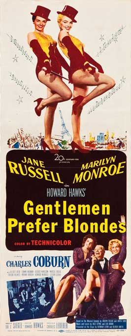 Gentlemen Prefer Blondes - 14 x 36 Movie Poster - Insert Style A
