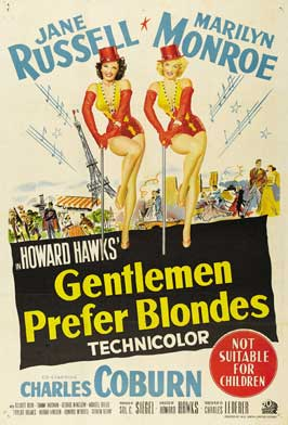 Gentlemen Prefer Blondes - 27 x 40 Movie Poster - Australian Style A
