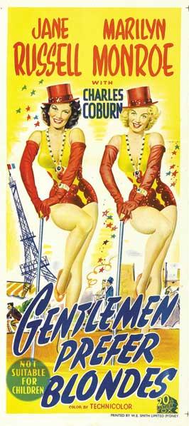Gentlemen Prefer Blondes - 20 x 40 Movie Poster - Style A