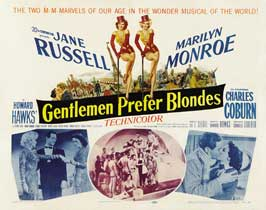 Gentlemen Prefer Blondes - 22 x 28 Movie Poster - Half Sheet Style A