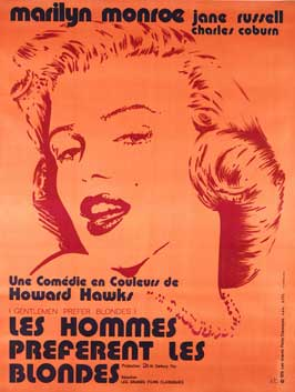 Gentlemen Prefer Blondes - 27 x 40 Movie Poster - French Style B
