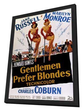 Gentlemen Prefer Blondes - 11 x 17 Movie Poster - Style B - in Deluxe Wood Frame