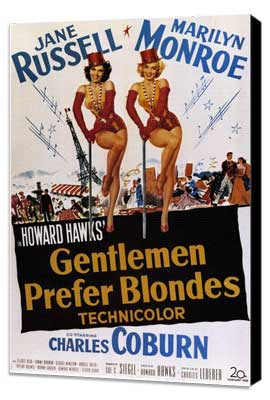 Gentlemen Prefer Blondes - 11 x 17 Movie Poster - Style B - Museum Wrapped Canvas