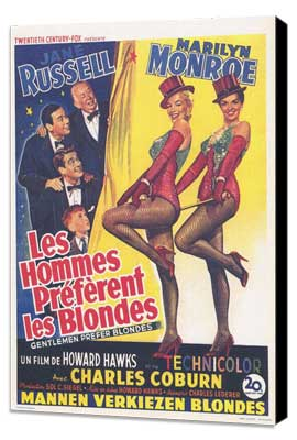 Gentlemen Prefer Blondes - 11 x 17 Poster - Foreign - Style A - Museum Wrapped Canvas