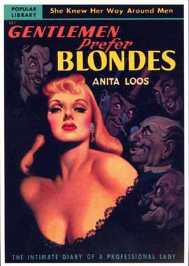 Gentlemen Prefer Blondes - 11 x 17 Retro Book Cover Poster