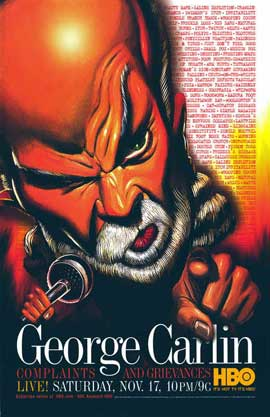 George Carlin: Complaints and Grievances - 11 x 17 TV Poster - Style A