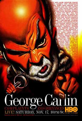 George Carlin: Complaints and Grievances - 27 x 40 TV Poster - Style A