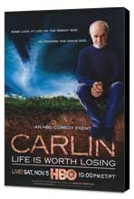 George Carlin: Life Is Worth Losing - 11 x 17 Movie Poster - Style A - Museum Wrapped Canvas
