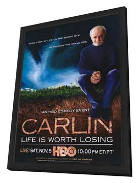 George Carlin: Life Is Worth Losing - 27 x 40 Movie Poster - Style A - in Deluxe Wood Frame