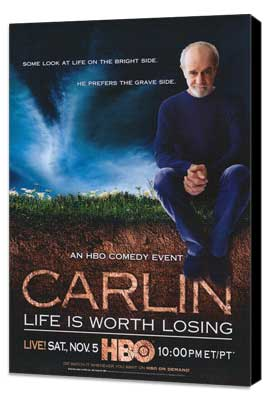 George Carlin: Life Is Worth Losing - 27 x 40 Movie Poster - Style A - Museum Wrapped Canvas