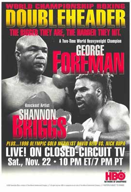 George Foreman vs. Shannon Briggs - 11 x 17 Boxing Promo Poster - Style A
