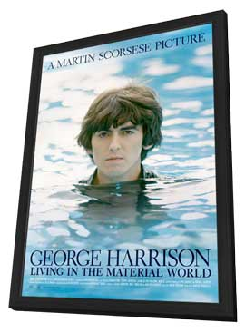 George Harrison: Living in the Material World (TV) - 11 x 17 TV Poster - Style A - in Deluxe Wood Frame