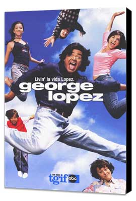 George Lopez - 11 x 17 TV Poster - Style A - Museum Wrapped Canvas