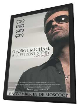 George Michael: A Different Story - 11 x 17 Movie Poster - Dutch Style A - in Deluxe Wood Frame