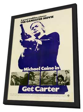 Get Carter - 11 x 17 Movie Poster - Style F - in Deluxe Wood Frame