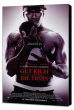 Get Rich or Die Tryin' - 11 x 17 Movie Poster - Style B - Museum Wrapped Canvas