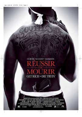 Get Rich or Die Tryin' - 27 x 40 Movie Poster - French Style A