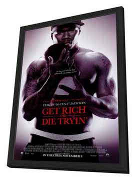Get Rich or Die Tryin' - 11 x 17 Movie Poster - Style B - in Deluxe Wood Frame