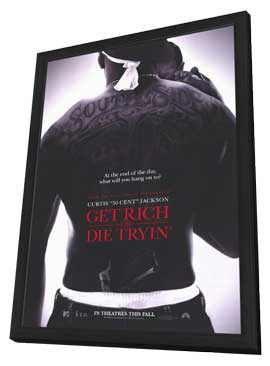 Get Rich or Die Tryin' - 27 x 40 Movie Poster - Style A - in Deluxe Wood Frame