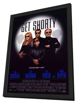Get Shorty - 27 x 40 Movie Poster - Style A - in Deluxe Wood Frame