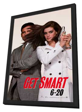 Get Smart - 27 x 40 Movie Poster - Style A - in Deluxe Wood Frame