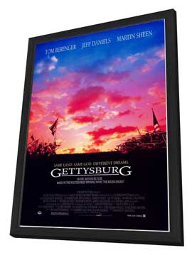 Gettysburg - 27 x 40 Movie Poster - Style A - in Deluxe Wood Frame