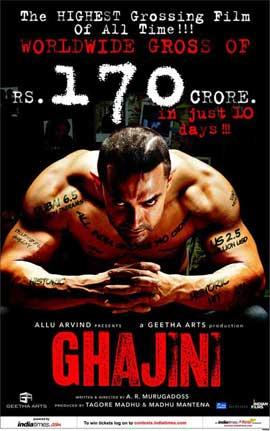 Ghajini - 11 x 17 Movie Poster - Style A
