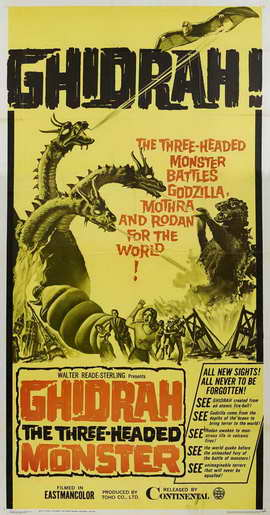 Ghidrah, the Three-Headed Monster - 27 x 40 Movie Poster - Style A