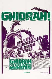 Ghidrah, the Three-Headed Monster - 11 x 17 Movie Poster - Style B