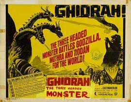Ghidrah, the Three-Headed Monster - 22 x 28 Movie Poster - Half Sheet Style A