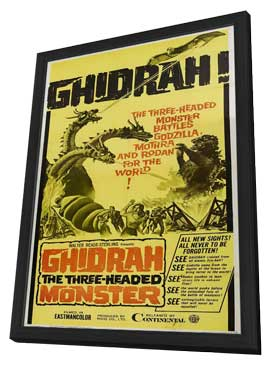 Ghidrah, the Three-Headed Monster - 11 x 17 Movie Poster - Style A - in Deluxe Wood Frame