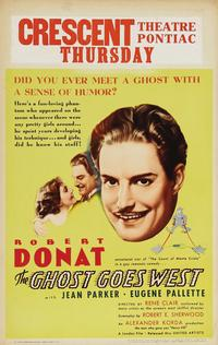 The Ghost Goes West - 43 x 62 Movie Poster - Bus Shelter Style A