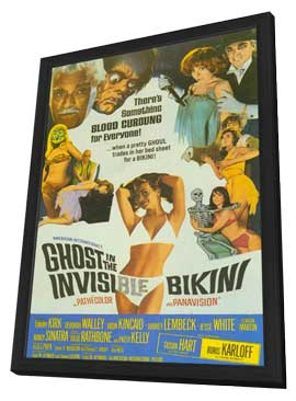 Ghost In the Invisible Bikini - 11 x 17 Movie Poster - Style A - in Deluxe Wood Frame