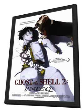 Ghost in the Shell 2: Innocence - 27 x 40 Movie Poster - Style A - in Deluxe Wood Frame