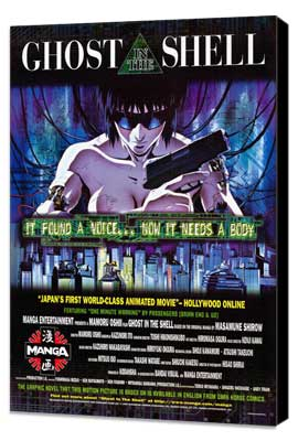 Ghost in the Shell - 27 x 40 Movie Poster - Style C - Museum Wrapped Canvas