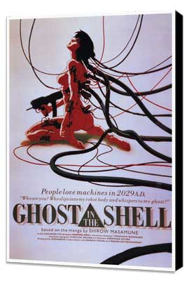 Ghost in the Shell - 27 x 40 Movie Poster - Style A - Museum Wrapped Canvas