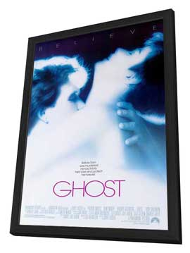 Ghost - 27 x 40 Movie Poster - Style A - in Deluxe Wood Frame