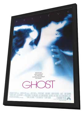 Ghost - 11 x 17 Movie Poster - Style B - in Deluxe Wood Frame
