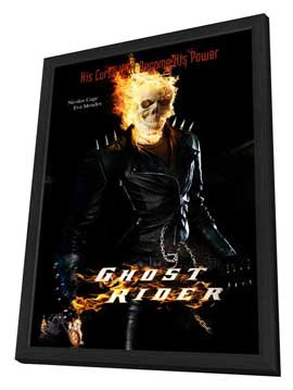 Ghost Rider - 11 x 17 Movie Poster - Style C - in Deluxe Wood Frame