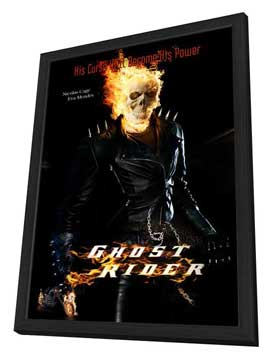 Ghost Rider - 27 x 40 Movie Poster - Style C - in Deluxe Wood Frame