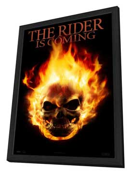 Ghost Rider - 14 x 36 Movie Poster - Insert Style A - in Deluxe Wood Frame