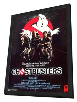 Ghostbusters - 11 x 17 Movie Poster - Style G - in Deluxe Wood Frame