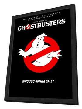 Ghostbusters - 11 x 17 Movie Poster - Style H - in Deluxe Wood Frame