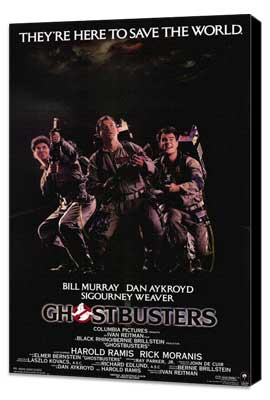 Ghostbusters - 11 x 17 Movie Poster - Style A - Museum Wrapped Canvas