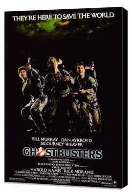 Ghostbusters - 27 x 40 Movie Poster - Style A - Museum Wrapped Canvas