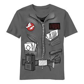 Ghostbusters - Peter Venkman Wavy Lines Grey T-Shirt
