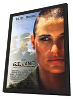G.I. Jane - 11 x 17 Movie Poster - Style A - in Deluxe Wood Frame