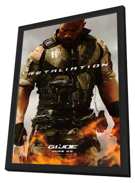 G.I. Joe: Retaliation - 27 x 40 Movie Poster - Style A - in Deluxe Wood Frame